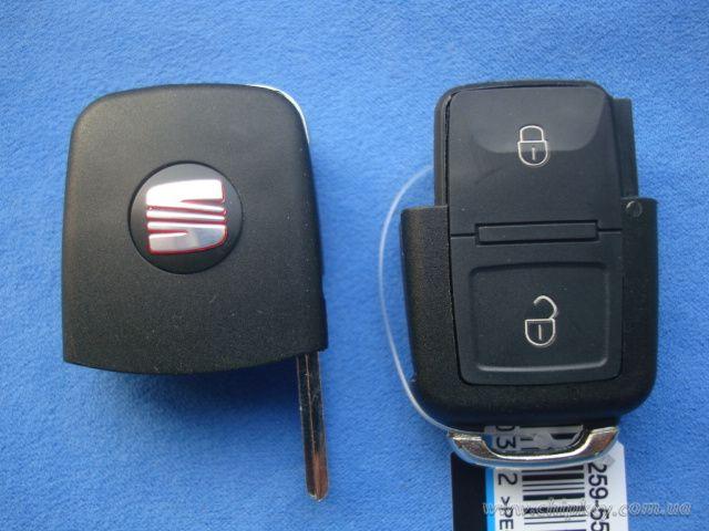 SEAT выкидной ключ 2 - кнопки с микросхемой 1JO 959 753 AG - 433 Mhz, с ID48 MEGAMOS чипом...