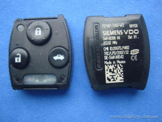 HONDA штатная микросхема управления центральным замком 3 - кнопки, 433,92Mhz , для моделей авто...