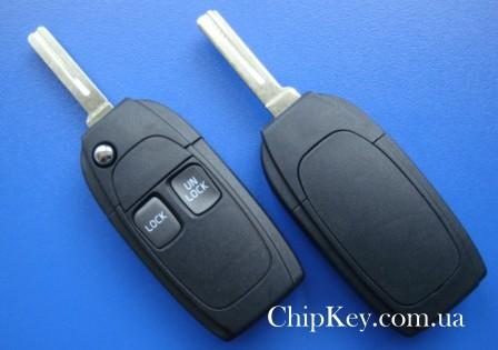 VOLVO S80 S60 V70 VC70 XC90 выкидной ключ (корпус) 2 - кнопки.