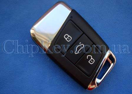 Smart Key Volkswagen B8 3 кнопки, с чипом ID49 MCAES, 434 Mhz, 2015 -, Original